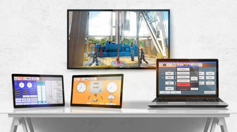 Drilling Systems' DrillSIM:10 multi-screen drilling and well control simulator