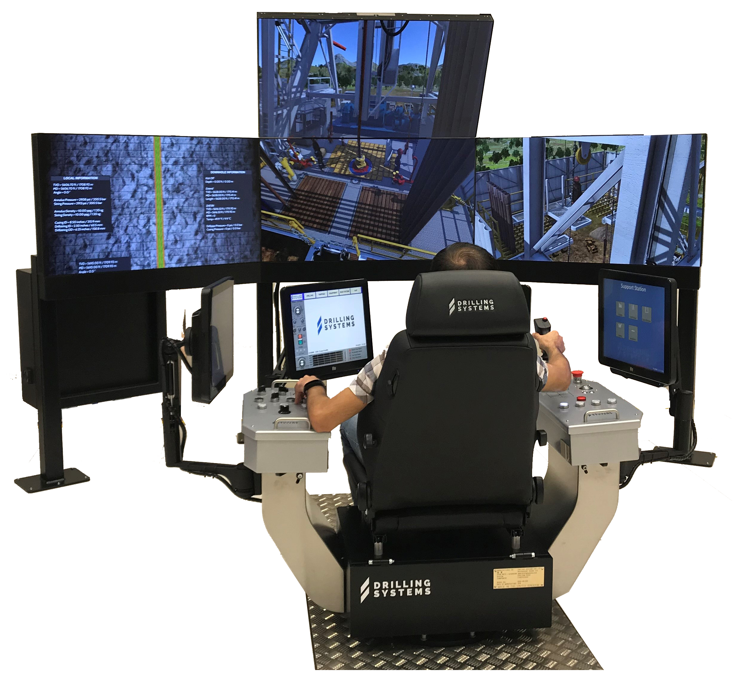 The Drilling Systems' DrillSIM:5000 Cyber Chair drilling and well control simulator